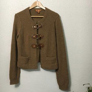 Tory Burch Buckled Sweater Size